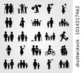 humans vector icon set. son ... | Shutterstock .eps vector #1014217462