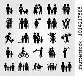 humans vector icon set. baby... | Shutterstock .eps vector #1014217585