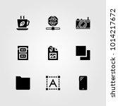 web design vector icon set. tea ... | Shutterstock .eps vector #1014217672