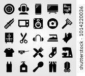 shopping vector icon set. sock  ... | Shutterstock .eps vector #1014220036