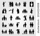 humans vector icon set. child ... | Shutterstock .eps vector #1014224308