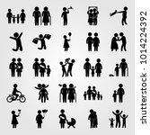 humans vector icon set. man... | Shutterstock .eps vector #1014224392