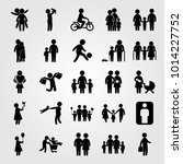 humans vector icon set. woman... | Shutterstock .eps vector #1014227752