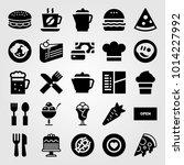 restaurant vector icon set....   Shutterstock .eps vector #1014227992