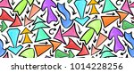 seamless pattern of hand drawn... | Shutterstock .eps vector #1014228256