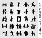 humans vector icon set....   Shutterstock .eps vector #1014229162