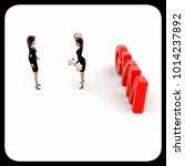 3d woman teach exersice to...   Shutterstock . vector #1014237892