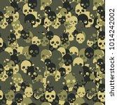 skull camo seamless pattern....   Shutterstock .eps vector #1014242002