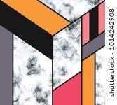 vector marble texture design... | Shutterstock .eps vector #1014242908