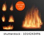 vector realistic fire...   Shutterstock .eps vector #1014243496