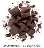 broken or cracked chocolate... | Shutterstock . vector #1014244708