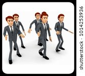 3d man walking in group concept ... | Shutterstock . vector #1014253936
