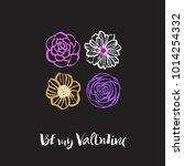 be my valentine. valentines day ... | Shutterstock .eps vector #1014254332