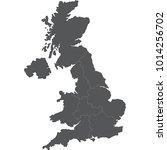 united kingdom map | Shutterstock .eps vector #1014256702