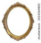 oval golden frame for paintings ... | Shutterstock . vector #1014264802
