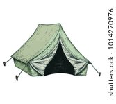 camping tent for tourism ... | Shutterstock .eps vector #1014270976