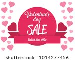 valentine's day sale  vector... | Shutterstock .eps vector #1014277456
