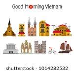 vietnamese landmarks  vector... | Shutterstock .eps vector #1014282532