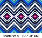 geometric folklore ornament.... | Shutterstock .eps vector #1014284182