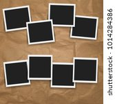 photo frame sets with gradient... | Shutterstock .eps vector #1014284386