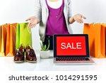 sale promotion sign  online... | Shutterstock . vector #1014291595