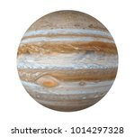 Planet Jupiter Isolated (Elements of this image furnished by NASA). 3D rendering