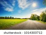 asphalt road panorama in... | Shutterstock . vector #1014303712