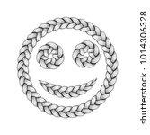 braids font. alphabet made from ... | Shutterstock .eps vector #1014306328