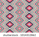 indian embroidery. geometric... | Shutterstock .eps vector #1014312862