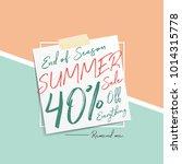 summer sale v6 40 percent... | Shutterstock .eps vector #1014315778