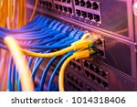 ethernet cable on network... | Shutterstock . vector #1014318406
