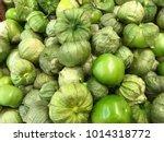 Fresh Green Tomatillo On The...