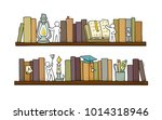 sketch of people teamwork ... | Shutterstock .eps vector #1014318946