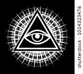 all seeing eye  the eye of... | Shutterstock . vector #1014323476