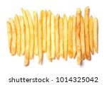 heap of french fries lined up... | Shutterstock . vector #1014325042