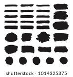 set of black grunge hand paint  ... | Shutterstock .eps vector #1014325375