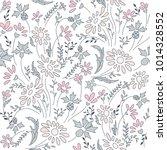 seamless floral pattern in folk ...   Shutterstock .eps vector #1014328552