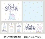 baby shower card with cute... | Shutterstock .eps vector #1014337498