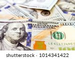 close up macro of 100 dollar...   Shutterstock . vector #1014341422