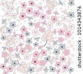 seamless floral pattern in folk ...   Shutterstock .eps vector #1014343876