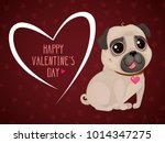 greeting card for valentine's... | Shutterstock .eps vector #1014347275