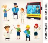 set of cartoon characters of... | Shutterstock .eps vector #1014351208