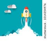 business rocketship startup... | Shutterstock .eps vector #1014354976