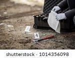 crime scene investigation  ... | Shutterstock . vector #1014356098
