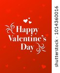 happy valentine's day card  ... | Shutterstock .eps vector #1014360016