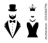 gentleman and lady icon... | Shutterstock .eps vector #1014360796