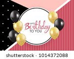 abstract happy birthday... | Shutterstock . vector #1014372088