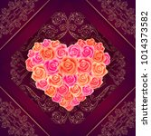 illustration of valentines day... | Shutterstock .eps vector #1014373582