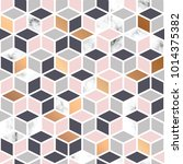 vector marble texture  seamless ... | Shutterstock .eps vector #1014375382