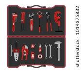 vector illustration. tool box... | Shutterstock .eps vector #1014375832